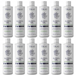 Ykas Álcool Gel Higienizador para as Mãos Kit com 12 x 120g