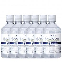 Ykas Álcool Gel Higienizador para as Mãos Kit com 6 x 450g